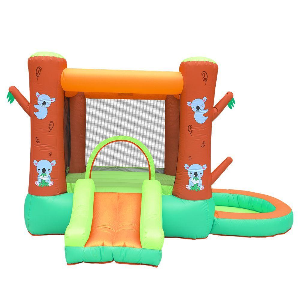Drôle gonflable Koala Bouncer avec toboggan Piscine Koala Playhouse For Kids Indoor Jouer New Outdoor Play House Castle enfants saut avec balle Pit