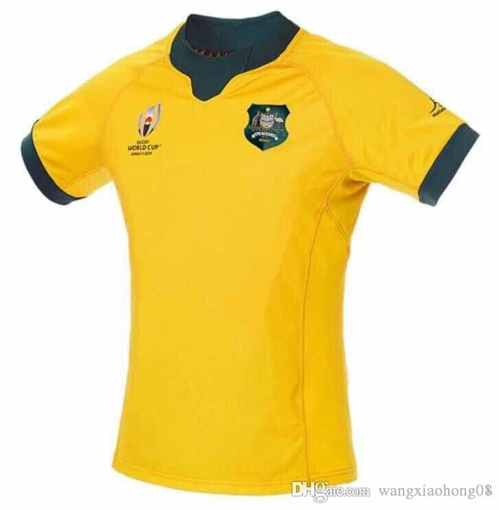 Australia Wallabies RWC 2019 Home Match Day Rugby Shirt 2018/20 AUSTRALIA WALLABIES INDIGENOUS JERSEY Australia rugby size S-3XL(can print)