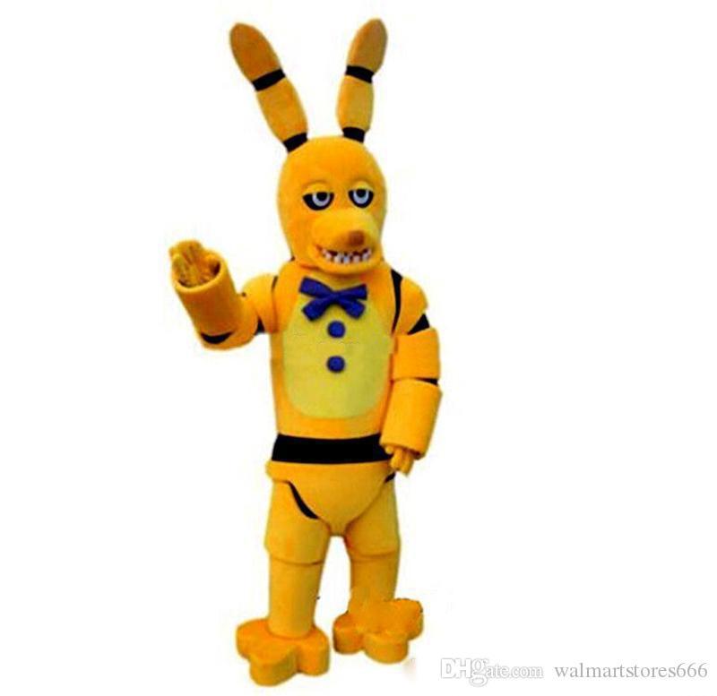2019 высокое качество горячие пять ночей в FNAF игрушки Фредди жуткий желтый Кролик талисман мультфильм Рождественская одежда
