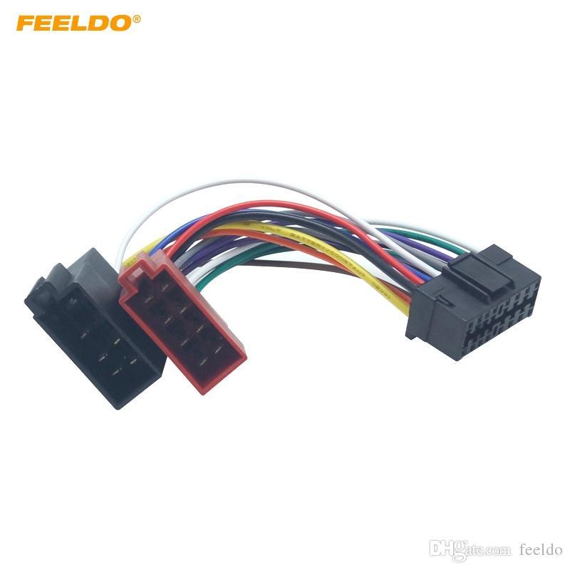 FEELDO Autoradio CD / DVD Stereo ISO Kabelbaumadapter für Sony zu Peugeot Audio Video 2-Kopf-Lautsprecherkabelanschlusskabel # 6003