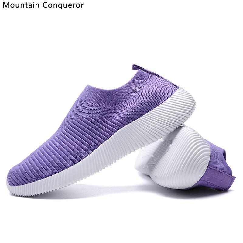 Montagne Conquérant 2020 nouvelles femmes Sneakers chaussures âgées maman de marche des femmes Chaussures de jogging Casual Chaussures Femme
