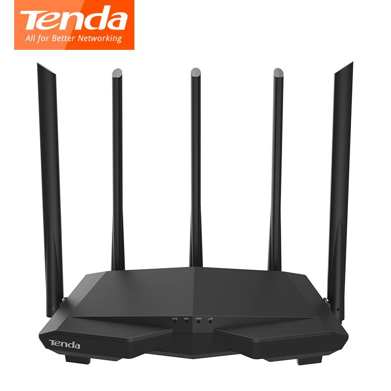 Tenda AC7 wifi Routers 11AC 2,4 GHz / 5,0 GHz Wi-Fi * 1 + 3 * WAN LAN 5 * de alta ganancia 6dbi antenas inteligentes APP Manejo de Inglés Firmware
