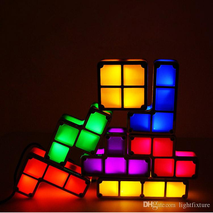 Colorful Creative Diy Magic Block Night Lights LED Luminaria For Children Gift Small Night Lamp Bedroom Bedside Nightlights