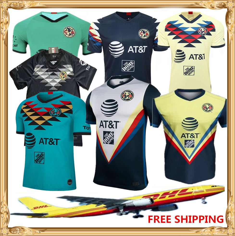 DHL Free shipping 20 21 Club America soccer Jerseys home away 2019 2020 2021 LIGA MX Club America soccer Jerseys Size can be mixed batch