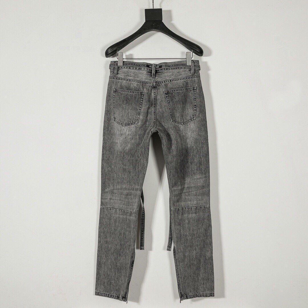 Боязнь 19ss Hole Track от тумана 6-й мода джинсы фитнес-стрит скейтборд молния джинсовые брюки спортивные хоп бедра повседневные болотные штаны спортивные штаны