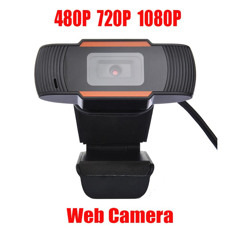 HD Webcam Web Telecamera 30FPS 480P / 720P / 1080P PC Microfono da assorbimento insonorizzato incorporato USB 2.0 Record video per computer PC Laptop in magazzino