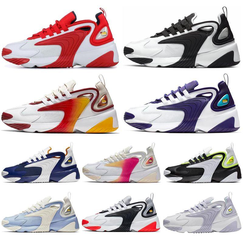 Nike Zoom 2K Triple Negro Zoom 2K Calzado De Running Para Hombre Mujer Azul  Gris Morado Blanco Negro Crema Blanca Para Hombre Entrenador Mujer ...