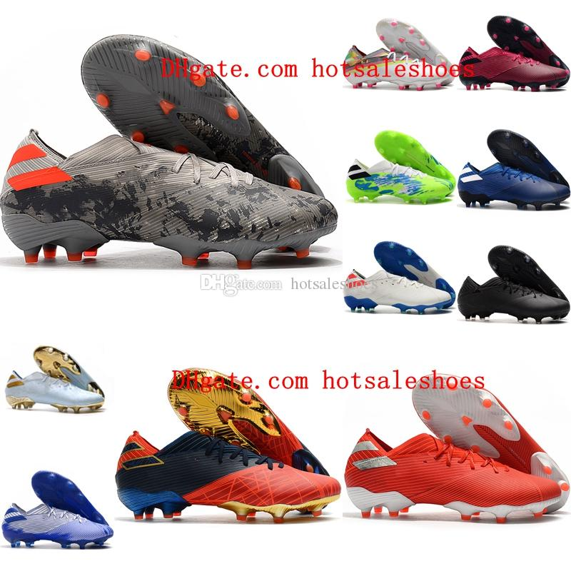 2020 nuova qualità superiore mens di arrivo scarpe da calcio Nemeziz 19.1 FG tacchetti da calcio scarpe da calcio all'aperto chuteiras de Futebol
