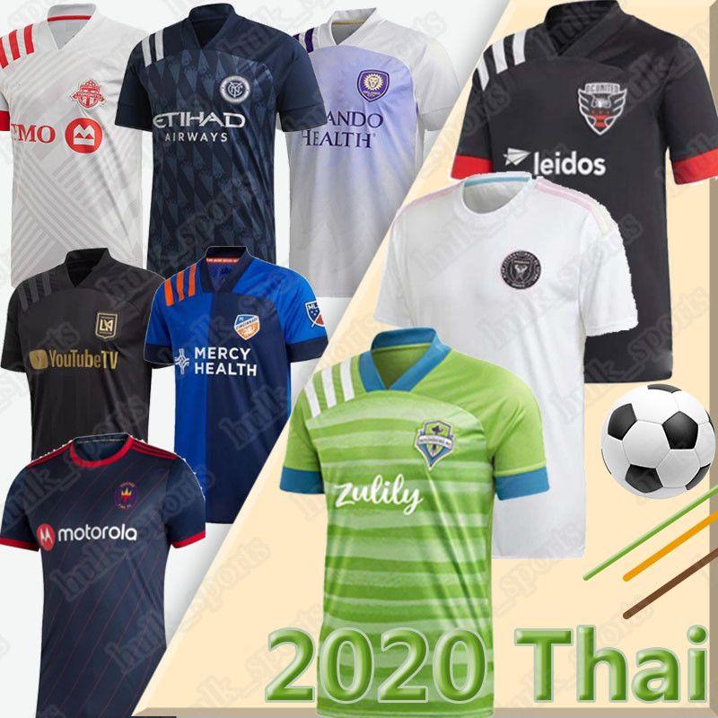 2020 2021 MLS jersey Atlanta INTER MIAMI Beckham Preto socer jerseys LA LOS ANGELES GALAXY FC LAFC VELA Chicharito MLS Maillot de pé