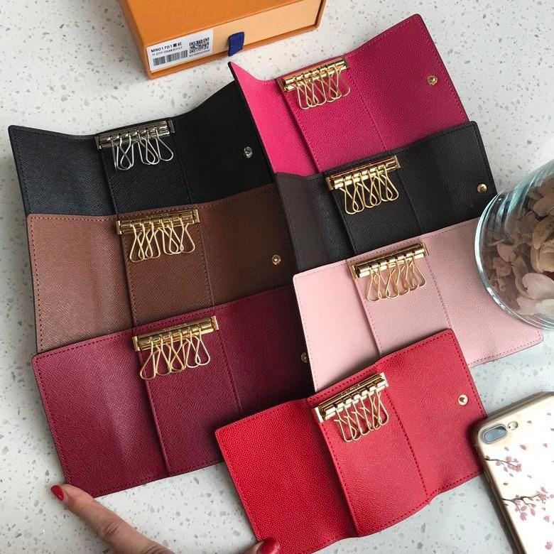 Lüks Anahtarlık Çok renkli Deri Anahtarlık Marka Modacı 6 Anahtar Cüzdan Erkekler Ve Kadınlar Klasik Tutucu Kapak Mini Poşet Çanta
