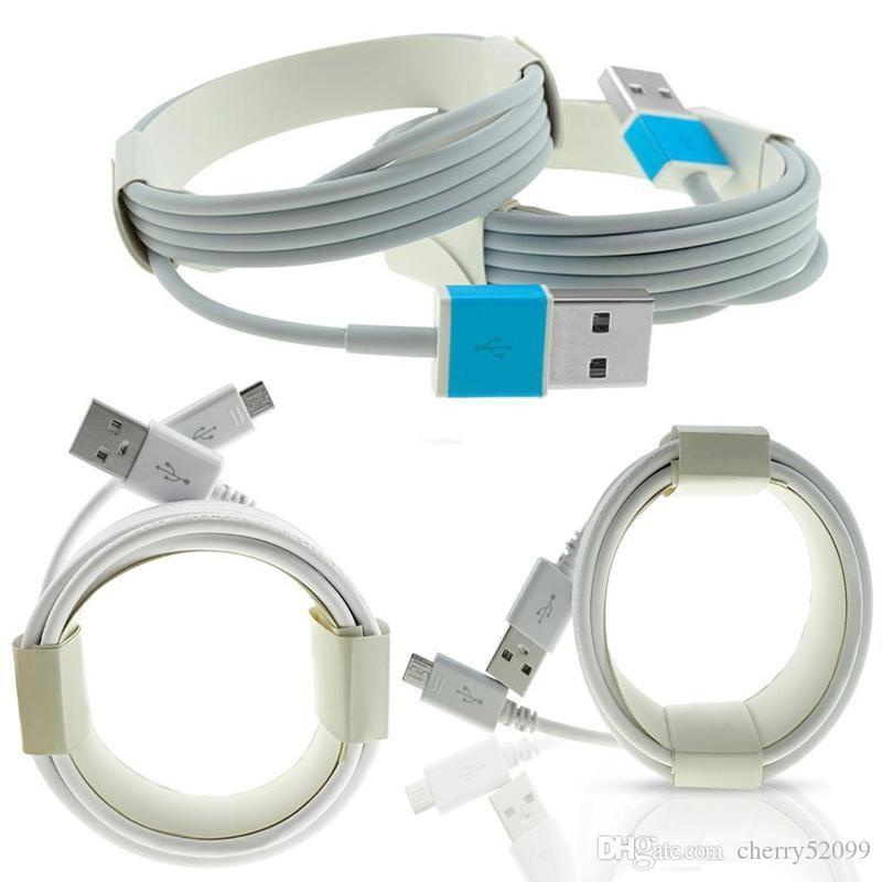 Micro USB cable cargador tipo C de alta calidad 1M los 3FT 2M 3M 6 pies 10FT sincronización de datos para Samsung S8 S9 S7edge