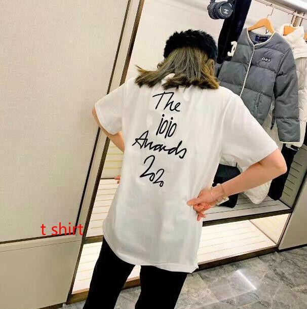 Francia diseñador las camisetas para las mujeres Tee Shirts 20SS verano Camiseta de la marca bordado con letras de lujo ocasional señora Tops París ZWN20433