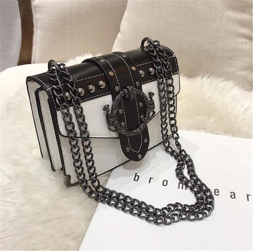 Chaîne Petit sac Femme Nouveau Rétro Rivet épaule Sac carré Sacs Polyvalent Cross Body PH-CFY20060818