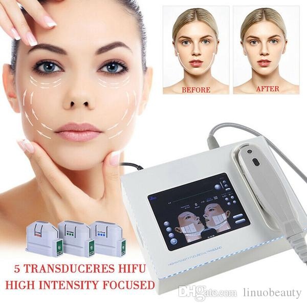 Mini HIFU High Intensity Focused Ultrasound Hifu Face Lift Wrinkle Removal Body Slimming Machine With 5 Heads For Face And Body