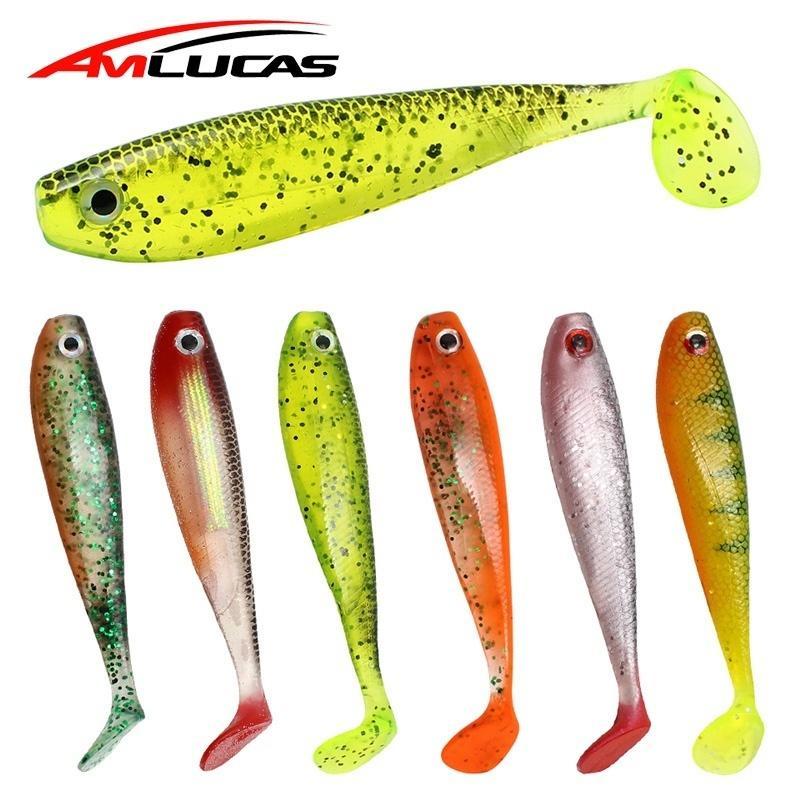 2 unids / lote suave señuelo de la pesca 12 cm 12.7 g Shad Silicone Bass Pike Minnow Swimbait Carpa Artificial cebo Wobblers Ww334