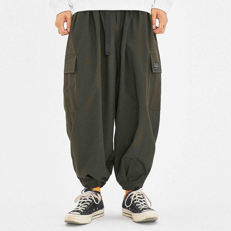 Мужские брюки Мужчины Япония Street Streetwear Свободные повседневные грузовые брюки мужской хип-хоп Широкие ноги Harem брюки бегунные спортивные штаны