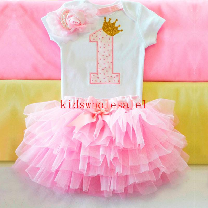 لطيف وردي لي فتاة صغيرة أولا 1 عيد ميلاد الحزب اللباس توتو كعكة سحق تتسابق الرضع طفل اللباس طفلة المعمودية الملابس 9 12M
