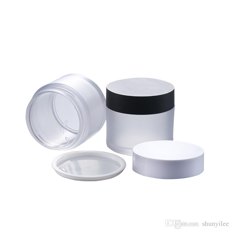 50g Empty Frosted Cream mask PET bottles jars containers for cosmetic packaging skin care cream tin F2888