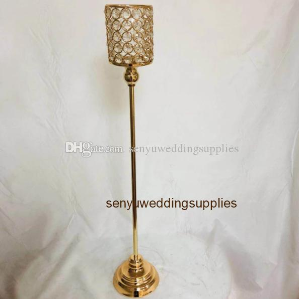New style Tall candelabra centerpieces wedding gold , silver candelabra crystal decor flower stand centerpieces senyu0295