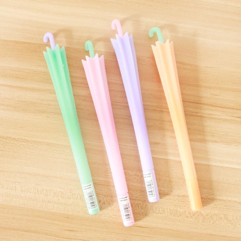 Little Umbrella Gel Pen 0.5mm Plumas de gel para escritura Tinta de color negro Útiles escolares Material Escolar