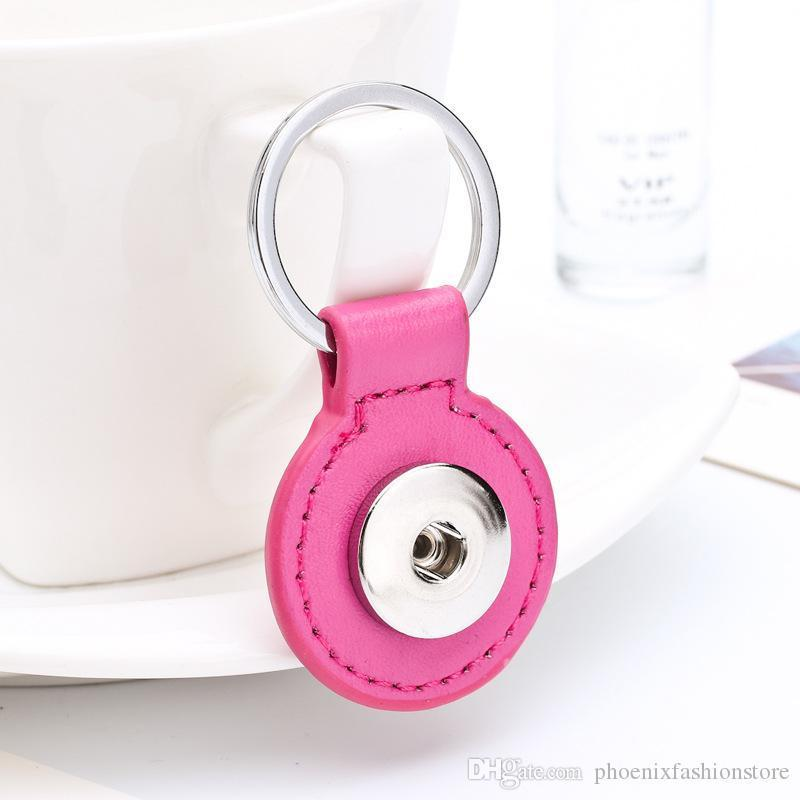 Yeni Anahtarlık Kadınlar Hediyeleri Kız Anahtarlık Çanta Charm Kolye Fit 18 / 20mm Snap Düğme Takı için 8 Renk Phoniex çekin Anahtarlık Geldi