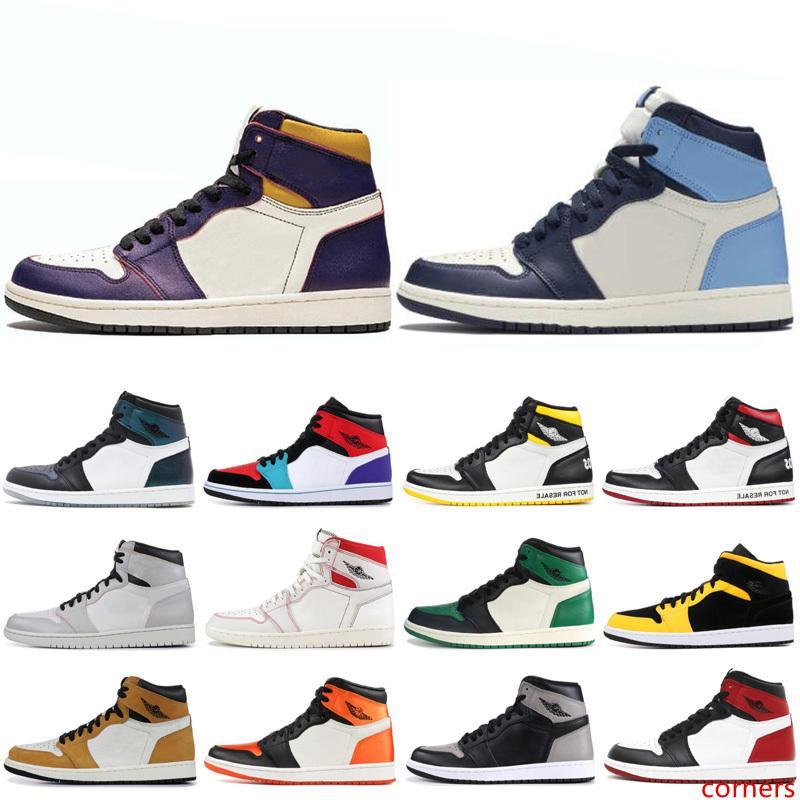 Los zapatos más nuevos 1s 1 de baloncesto para hombres Sin Miedo no para su reventa Corte púrpura Mocha SPIDERMAN NYC A PARÍS Obsidiana para hombre sneakrs entrenadores deportivos