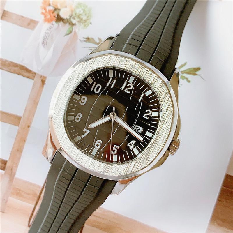 Alta calidad superior para hombre relojes movimiento de cuarzo relojes de diseño deportivo para hombres caja de acero inoxidable banda de goma famoso reloj suizo a prueba de agua