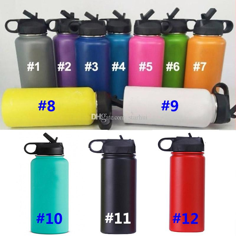 Vacuum Water Bottle Insulated 304 Stainless Steel Water Bottle Travel Coffee Mug Wide Mouth Drinking Cup With Lids 18oz/32oz/40oz WX9-721