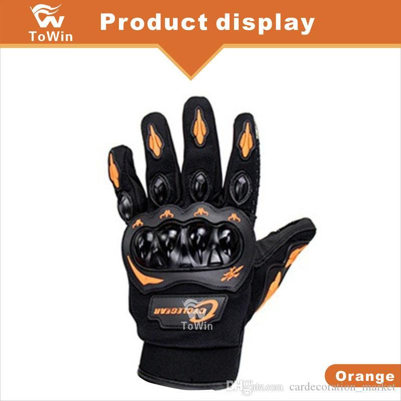 Мотоцикл велосипедный велосипедный велосипедные перчатки мото аксессуары автомобили и мотокросс Palm защитный сенсорный экран полный палец унисекс оптом
