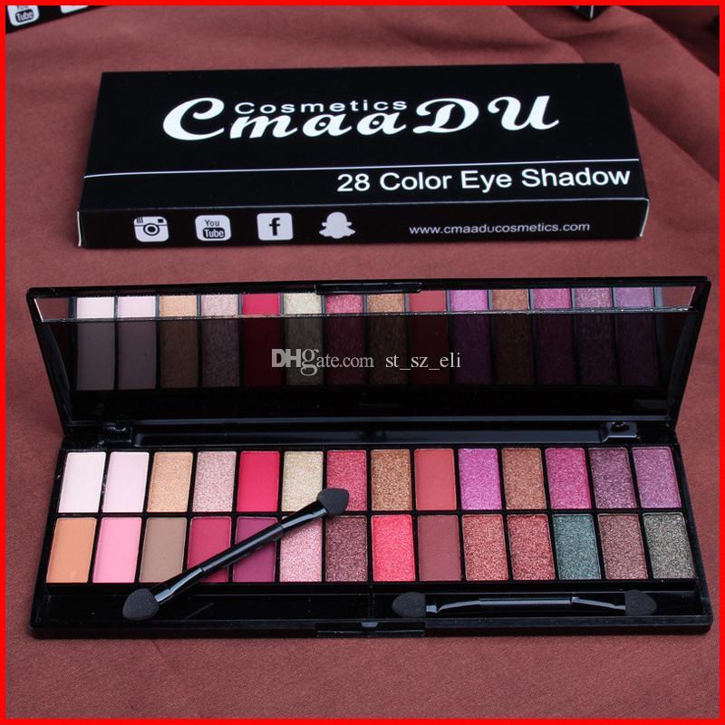 CmaaDU Cosmetics 28 Color Matte Eyeshadow Palette Make up Eye Shadow Glitter Natural Easy to Wear Waterproof Lasting Smoky Shadow