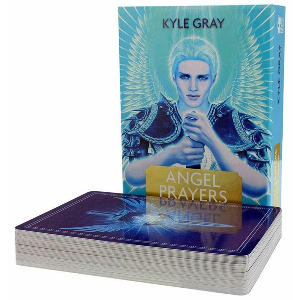 44pcs Prayers Angel Tarot Cards English Oracle Card Table Tarot Deck Game Party Playing Card Board Game Guidance Divination Fate