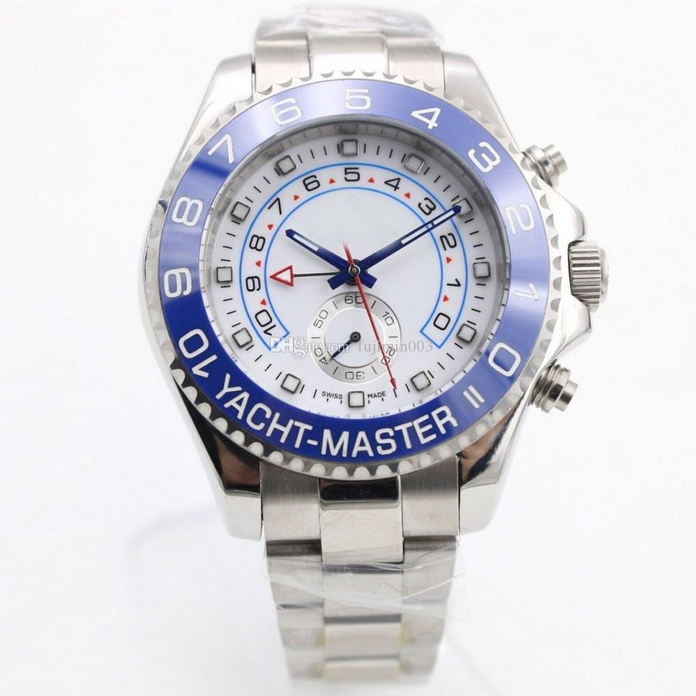 8 cores Hot Roli x homens relógio 44mm de aço inoxidável mecânico automático relógios RLX 116680 modelo YM2 18K 54