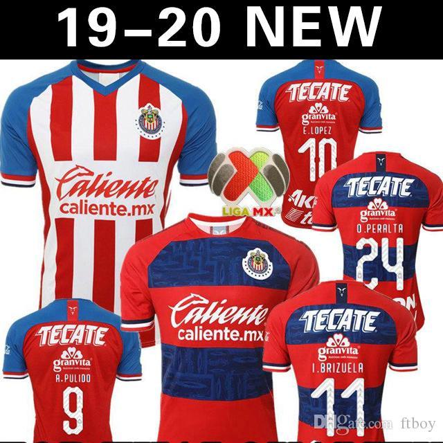 A.PULIDO 19 20 Guadalajara de Chivas Home Soccer Jersey O.PERALTA 2019 2020 Mexico Club Chivas away third O. PINEDA Maillot de foot shirt
