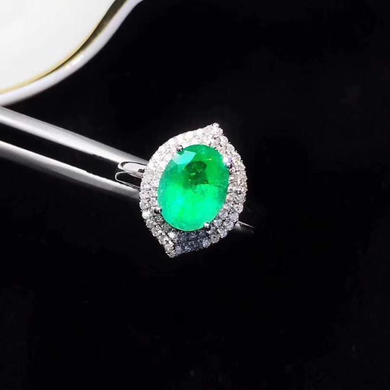 Pure Natural и Real изумруд Anniversary кольцо 925 серебро Изящные ювелирные Для мужчин и женщин
