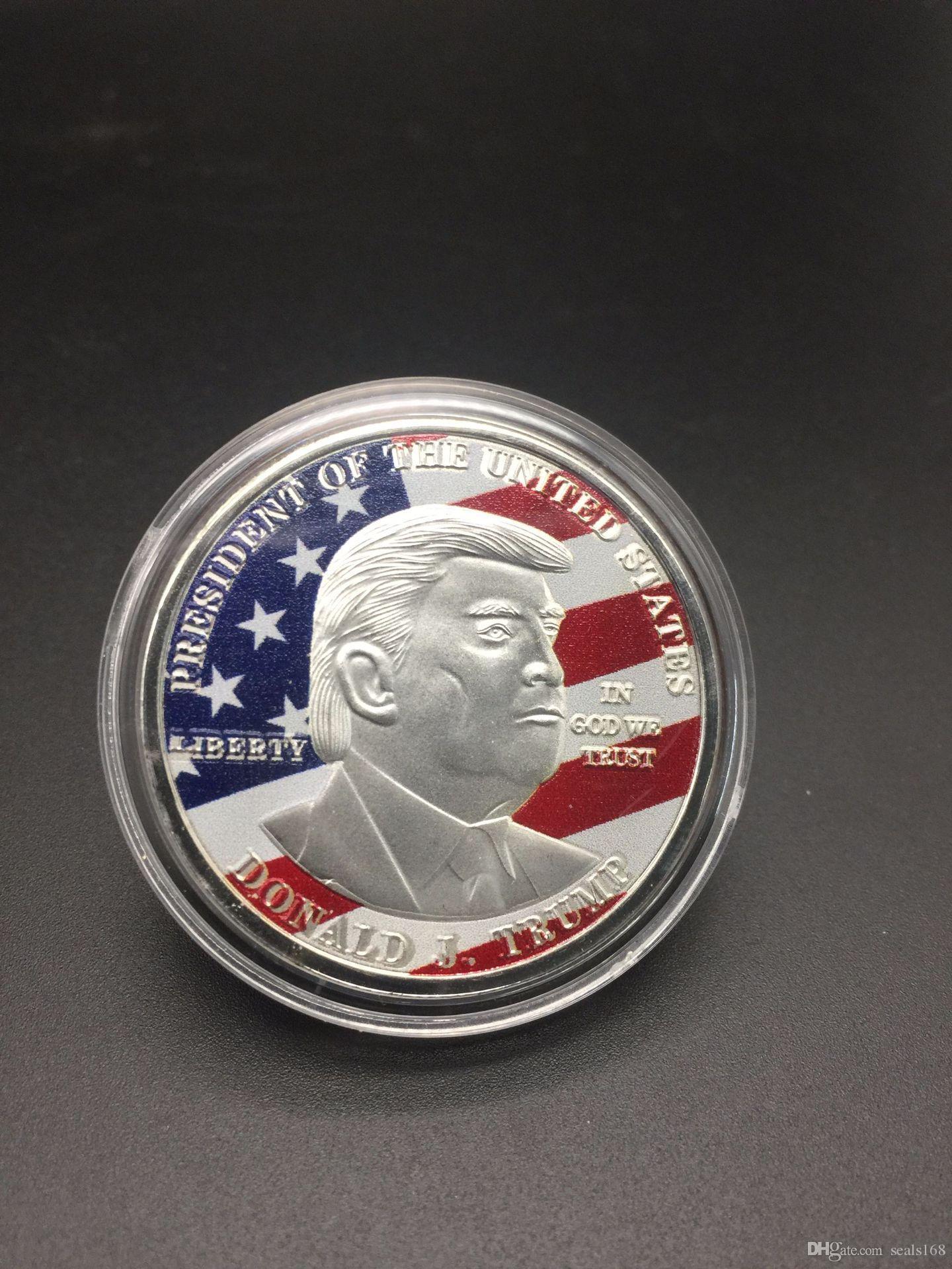 ful Trump Metal Craft Coin Badge 3D