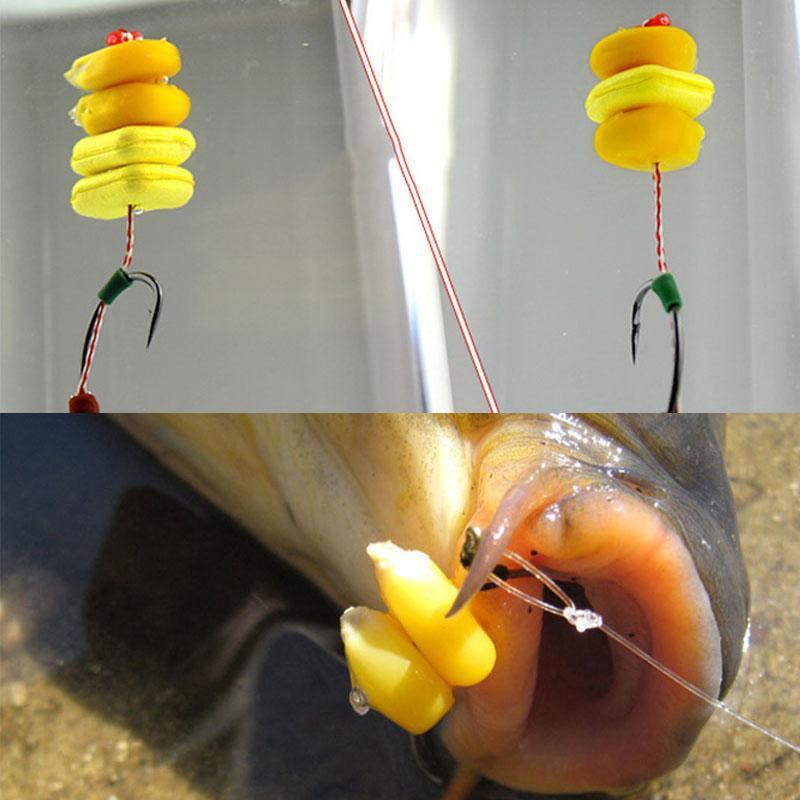 Pesca prezzo esche 20PCS Carp Fishing Boilies Pop Corn dolce profumo giallo che galleggia Corn falso Bait Lure Pop Up Boilies Carp Rig