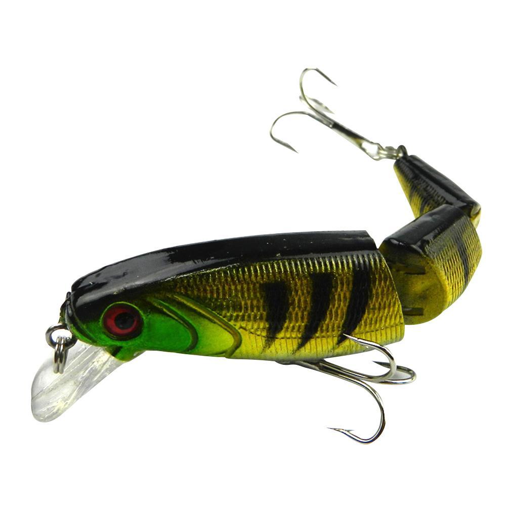 Pesca de los señuelos artificiales flexibles Multi articulados cebo la pesca de los trastos de la herramienta de Crankbait Para lucioperca lucioperca Bass