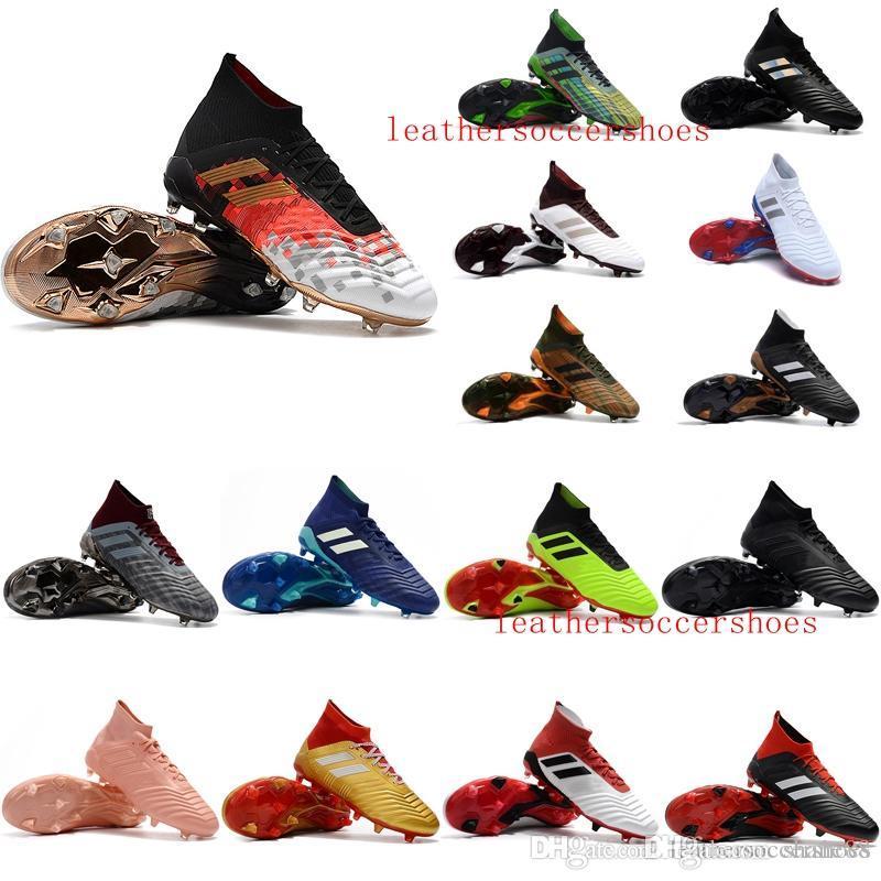 Sıcak calcio scarpe futbol botları de 2018 yeni varış Erkek futbol krampon Predator mania 18+ FG futbol ayakkabıları Predator hızlandırıcı 18 Kramponlar