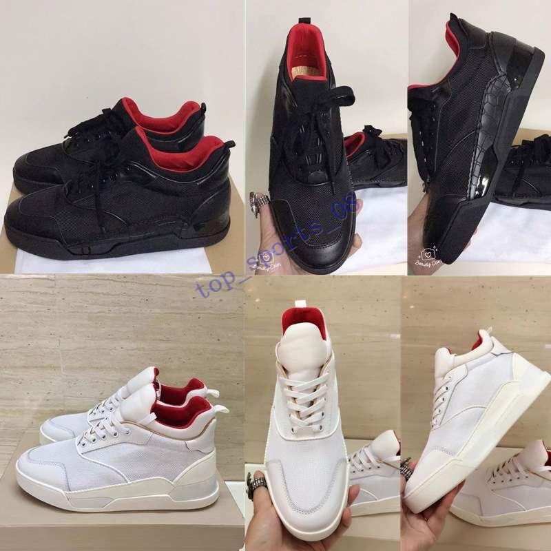 2020 جديد مصمم رياضة المسامير أوريلين مدرب مسطح أحمر أسفل الرجال أحذية سوداء أوريلين أحذية رياضية عارضة في الهواء الطلق مدرب جودة مثالية