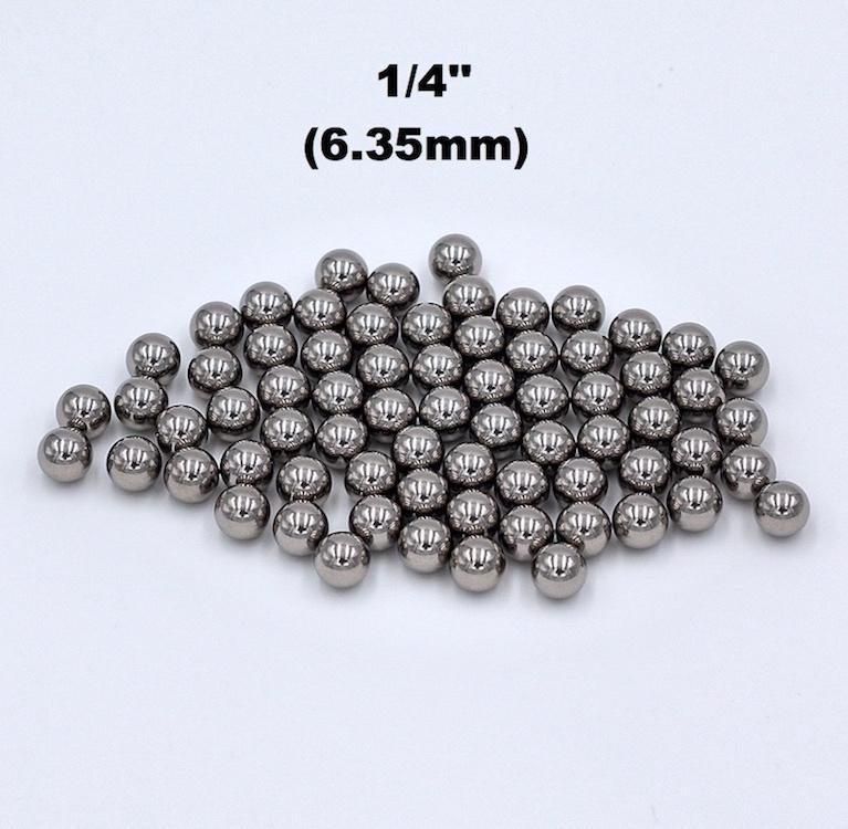 1/4'' (6.35mm) Chrome Steel Bearing Balls G16 Hardened AISI 52100 100Cr6 Precision Chromium Balls For High Load Bearings