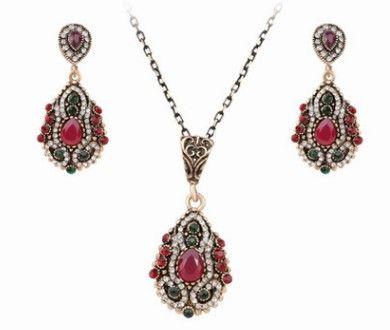 edel niedrigen preis hohe qualität hochzeit braut schmuck diamant kristall damenhalskette ohrringe set 13.8tytt