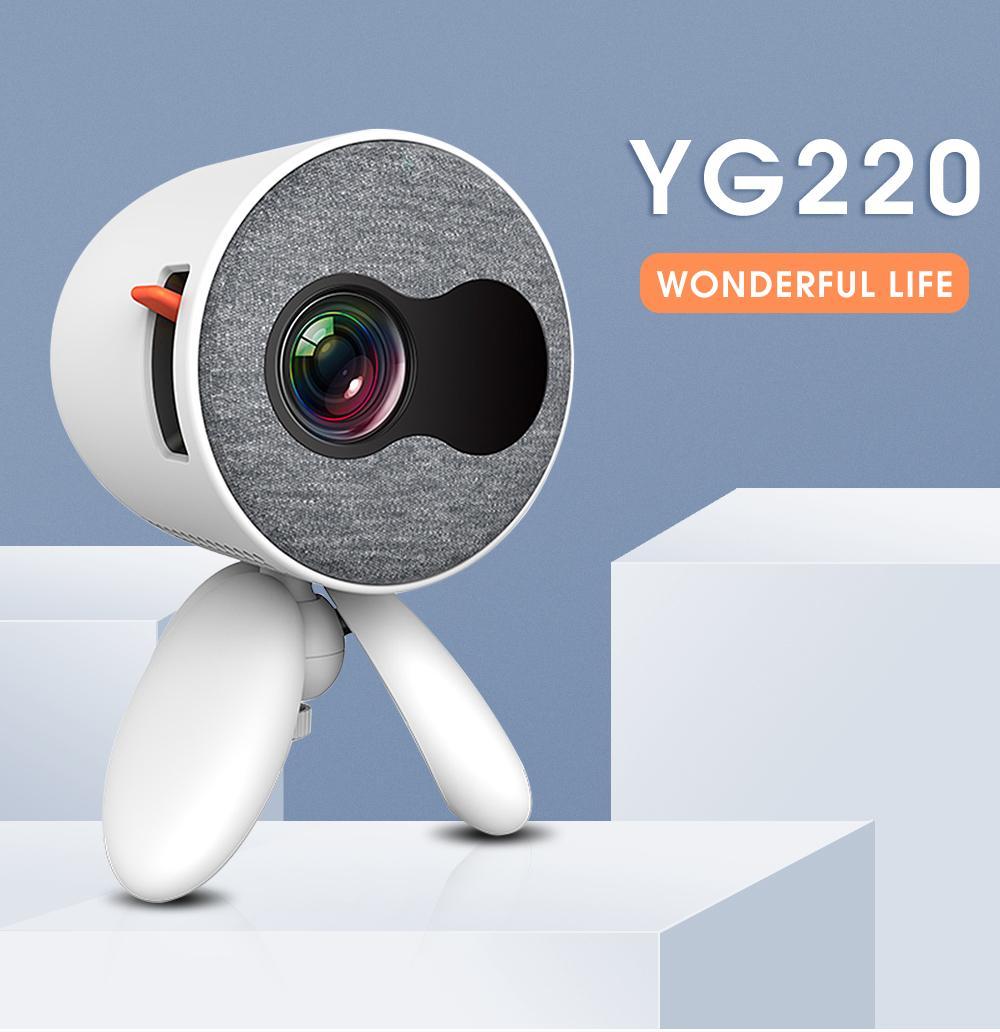 Home Théâtre YG220 Mini Projecteur 480 * 272 Pixels Supporte 1080P USB Portable Portable Portable Cute Video Player Réglable Head for Kids Cadeau