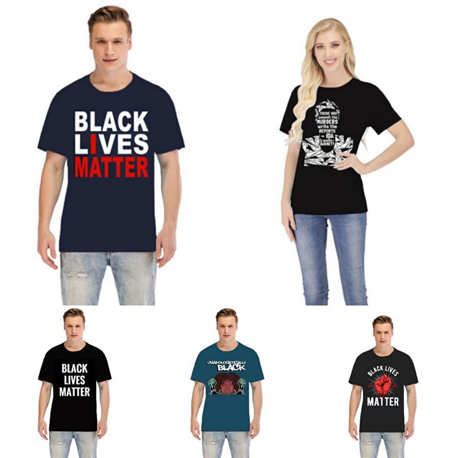 Schwarz Lives Matter! New 19SS LuxuxMens Designer-T-Shirt Qualitäts-Männer Frauen Paare beiläufige kurze Hülsen-Herren Rundhals-T-Stücke 5 Farben # 55