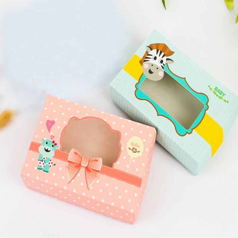 새로운 만화 동물 선물 상자, 어린이 생일 파티 선물 상자, 양말 및 Windows와 속옷 상자