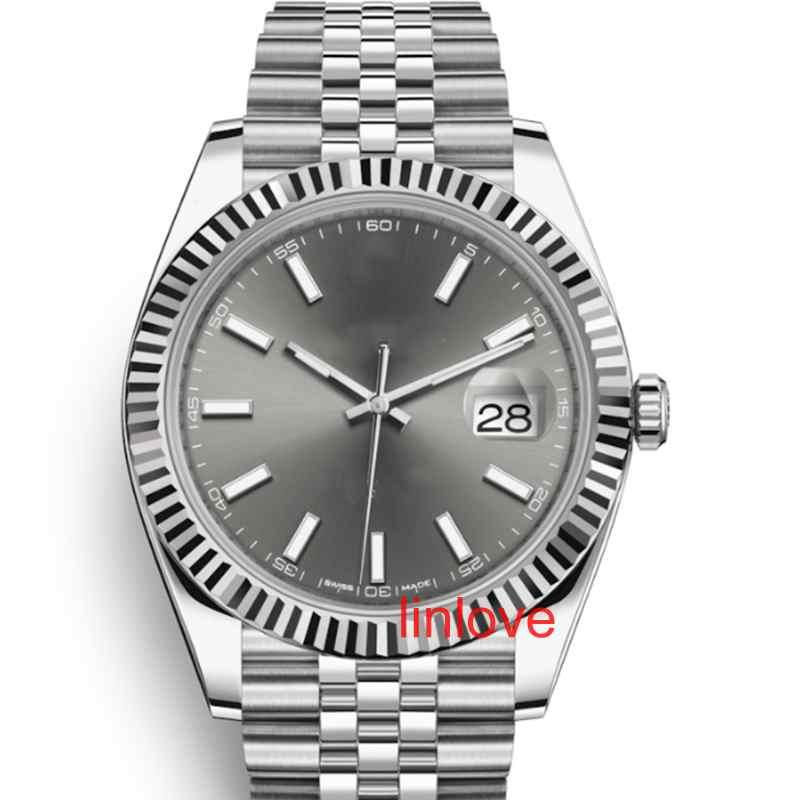Luxus Herrenuhr 41mm Edelstahl Massiv Haken Automatische 2813 mechanischen Uhr-Mann Big Date Präsident Desinger Armbanduhr