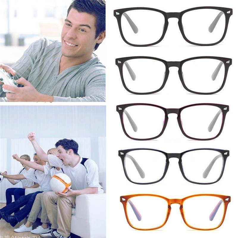 Moda Kadın Erkek Güneş Gözlükler Çerçeve Retro Vintage Şeffaf Lens Gözlük Düz Optik Gözlük Unisex