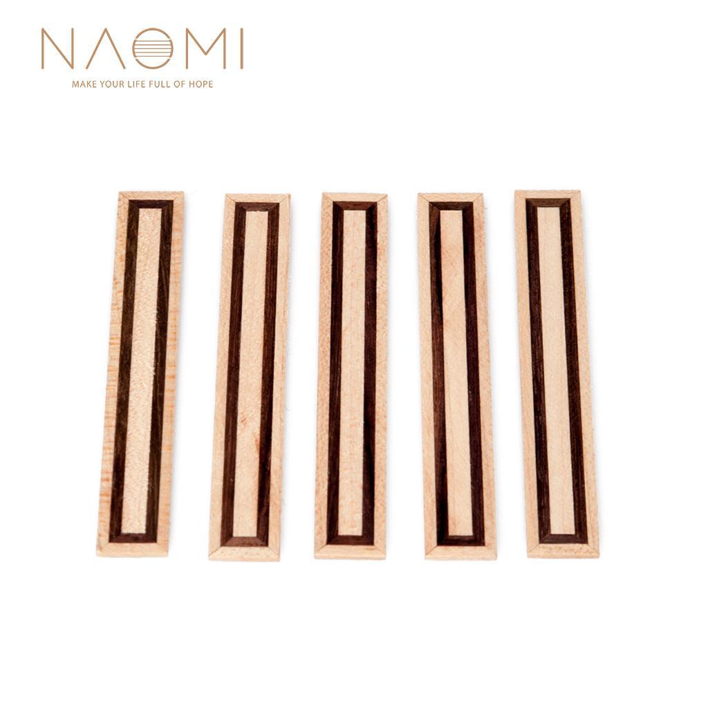 NAOMI 5 Pcs Guitarra Clássica Ponte Blocos de Gravata Inlay Rosewood Madeira Quadro Guitarra Peças Acessórios Nova NA-07