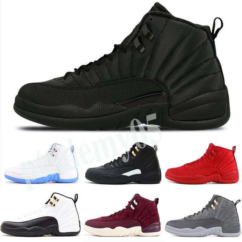 Nike Air Jordan 12 AJ12 Retro Nuove 12s Dark Grey Gioco Reale FIBA gioco della palla OVO Bianco Playoff uomini scarpe da basket 12 Blu Blu francesi CNY Sneakers Senza scatola P05
