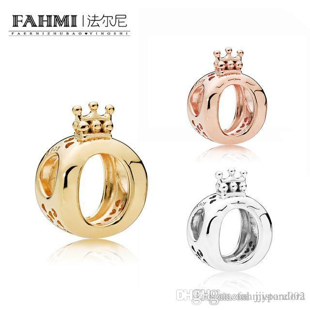 WPENNYI% 100 gümüş 1: 1 Glamour Shine Taç O Charm Boncuk Orijinal Kadınlar düğün Moda Takı 2019