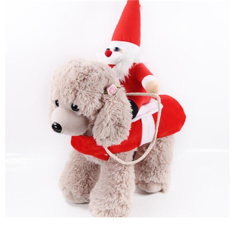 كلب الملابس تصميم عيد الميلاد سانتا كلوز دمية الملابس الكلاب الحيوانات الأليفة ركوب الخيل دعوى الملابس تأثيري مضحك حزب ديكورات 24gg H1